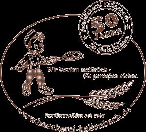 Logo 50 Jahre Bäckerei Kallenbach