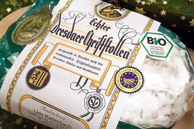 Echter Dresdner Stollen in Bio-Qualität