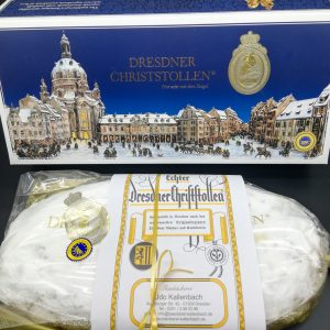 Echter Dresdner Christstollen 2 Kg mit Geschenkkarton